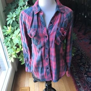 RAILS Pink and Blue Flannel Shirt
